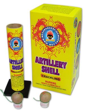 1-34 crackling artillery shell