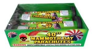 40 mammoth day parachutes