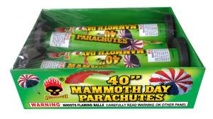 40 mammoth day parachutes