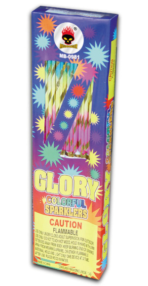 glory colorful sparklers