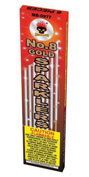 gold sparklers no 8